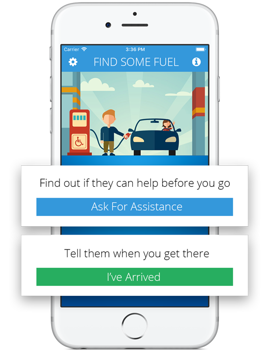 fuelService - Helping disabled drivers refuel their cars